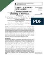 Hospital Human Resource Planning