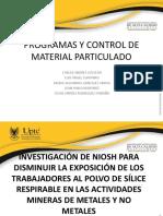 Programas y Control de Material Particulado Gr. 3