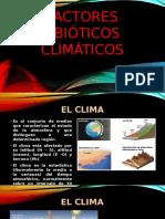 FACTORES ABIOTICOS CLIMATICOS