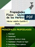 Propiedades FQ de Los Herbicidas