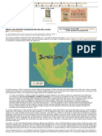 Where Was Atlantis Sundaland Fits the Bill, Surely! by Dr. Sunil Prasannan - GrahamHancock.com - Underworld