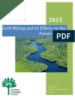 river amazon - gold mining