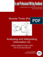 Module i i i Analysing and Interpreting Information 3