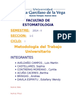 TRABAJO de MTU - Enfermedades Periodontales.