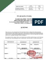 Procedure Radiography - QU_RT_ASME B31.3_2014