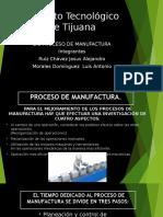 2.6 Proceso de Manufactura