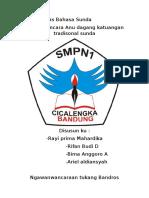 Laporan Tugas Bahasa Sunda