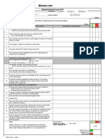 Manufacturing Process Audit Excel Form