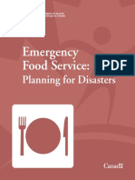 Emergency Food Service, Planning for Disasters