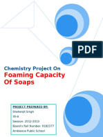 Chemistry Project on Foaming Capacity of Soaps (1)