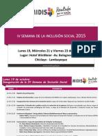Programa Semana Inclusión Social Descentralizado UT Lambayeque VF