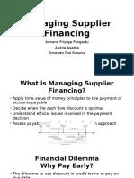 Managing Supplier Financing