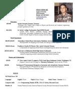 Jacobs Math Assistant, Kiran Adhikari CV