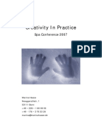 Creativity in Practice- Marina Haase