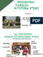 Ier Encuentro Familia-tutor3ºeso.teresa.oct2016.Maracena