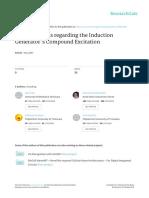 Considerations Regarding the Induction Generator's