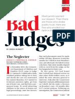 Bad Judges, Legal