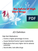 Safety of High Alert Medication
