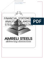 Financial Statement Analysis of AmERli Steel Mill Pakistan