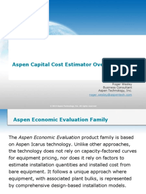 aspen capital cost estimator free download