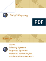 E-Gift Shopping Mjr Project