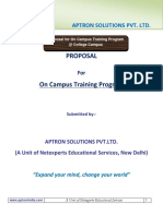 APTRON_On Campus Training Proposal