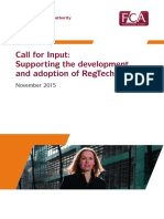 Regtech Call for Input