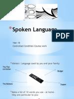 Spoken Language Power Point