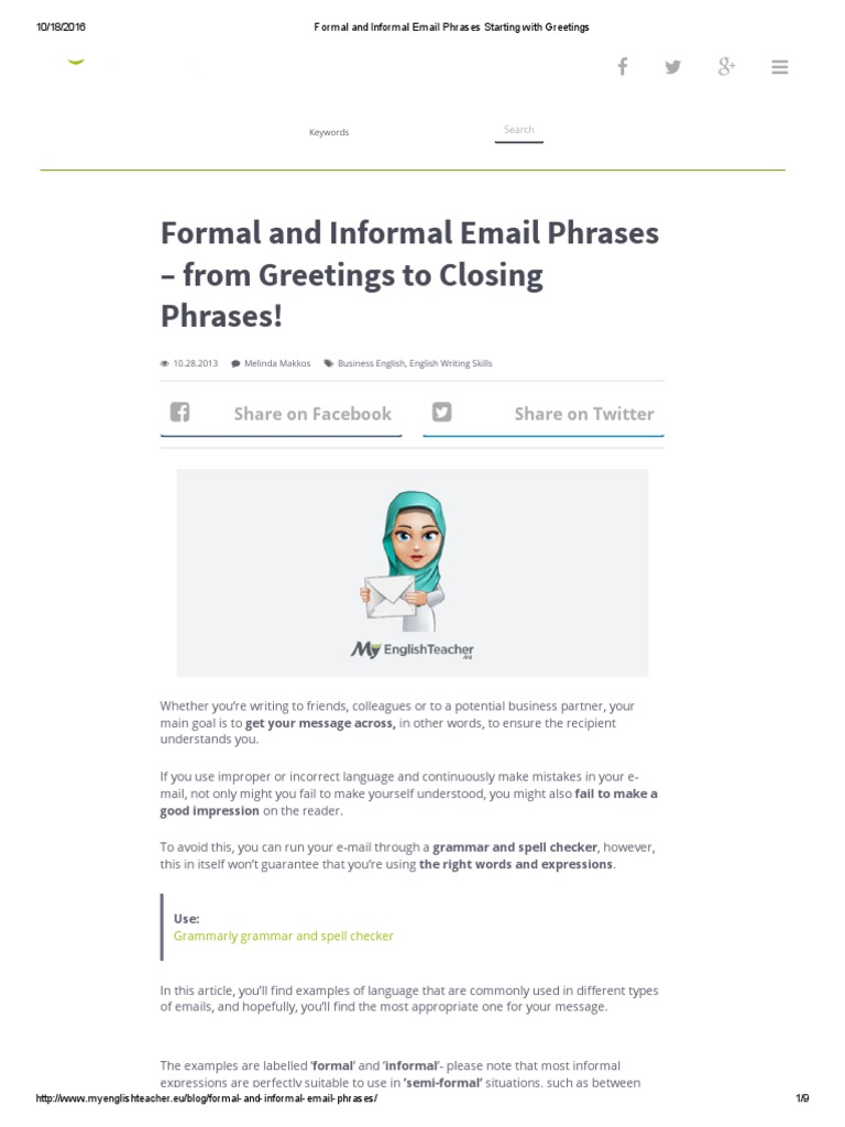 Formal and informal email phrases starting with greetings english formal and informal email phrases starting with greetings english language semiotics m4hsunfo