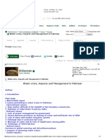 Water Crisis, Impacts and Management in Pakistan - CSS Forums