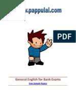 General English for Bank Exams