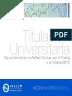Curso Universitario en Análisis Técnico para el Trading + 4 Créditos ECTS