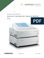 Manual Sartocheck4plus Bag Tester SPI6051-A