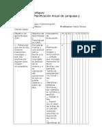 Planificación Anual Lenguaje 1°a 4° 2016