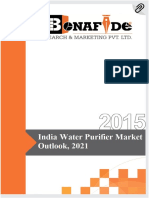 Sample India Water Purifier Market Outlook 2021