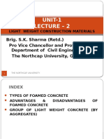 Unit-1 Lecture - 2 Light Weight Construction Materials by Brig. S.K. Sharma