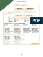 Género y número de sustantivos y adjetivos
