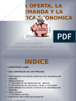 Oferta y Demanda y Política Economica