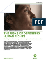 The Risks of Defending Human Rights