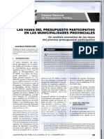 Las Fases Del Presupuesto Participativo en Las Municipalidades Provinciales - Autor Jose María Pacori Cari085
