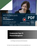ACCA F9 BPP Passcard 2016/2017