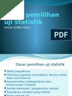 10 Dasar Pemilihan Uji Statistik