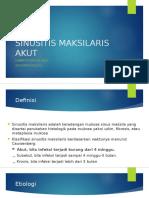 7. Sinusitis Maksilaris Akut