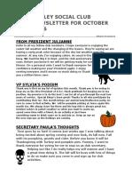 VSC October Newsletter for 2016