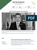 Boletín de noticias KLR 21OCT2016
