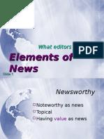 News Worthiness