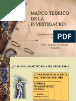 Marco Teorico de La Investigacion 4ta Clase