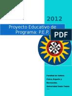 Proyecto Educativo de Programa_agosto_2012