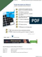 Teclas Para Usar y Abrir Las Principales Funciones de Windows 8