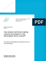 Can Simple Technical Trading Rules Be Successful in the Norwegian Stock Market -Master 2014 (Dahl Og Karevold)